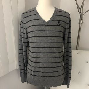 Men's Aeropostale Striped V-Neck Pullover Sweater